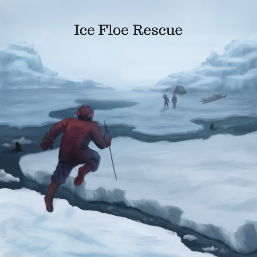 Tom Crean Rescue - Crean jumps from floe to floe to bring about a rescue