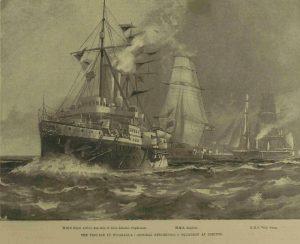 Tom Crean aboard HMS Royal Arthur - Blockade of Corinto Tom Crean Book