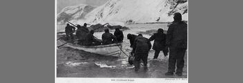 Tom Crean skippers the Stancombe Wills lifeboat to Elephant Island