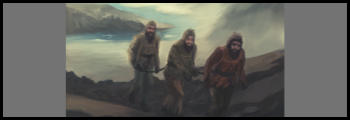 Tom Crean, Ernest Shackleton and Frank Worsley cross the mountains of South Georgia