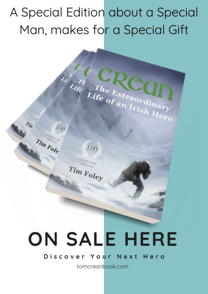 Poster for Booksellers for the Special Edition Tom Crean Book