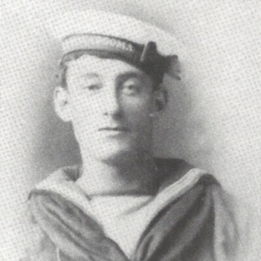 24-year-old Tom Crean while serving on HMS Ringarooma