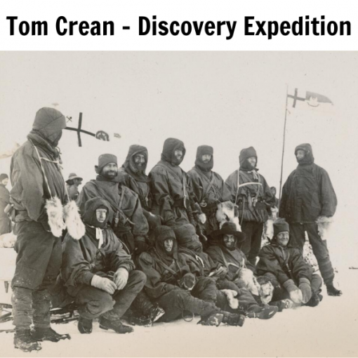 Tom Crean with the Southern Sledge Depot Party 1902
