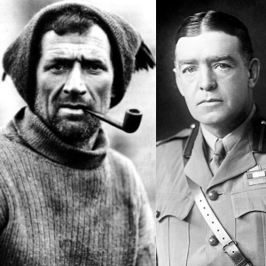 Tom Crean and Sir Ernest Shackleton