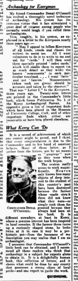 The acquaintance of Tom Crean who preserved Kerry's Antiquities Tom Crean Book